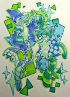 Cool color mordecai and rigby by EZstrongs