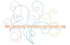 Dotted Swirls by crazykira-resources