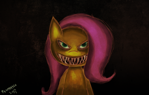 Fluttershy - shed keeper by Col762nel