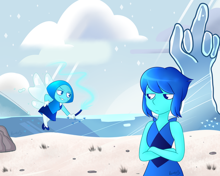 Aquamarine and Lapis by Mayleebell24