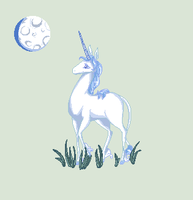 The last unicorn pixel gif by horseygirl119