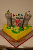 Angry Birds Cake by see-through-silence
