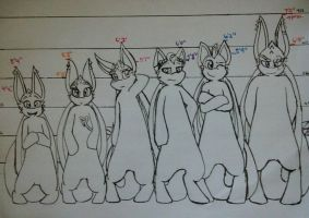 The Furies: Height Chart by KASAnimation