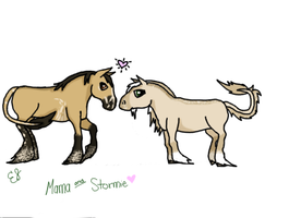 Mama and Stormie Breeding Picture by EquestrianJade
