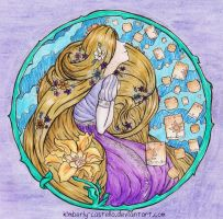 Disney: Rapunzel Art Nouveau by kimberly-castello