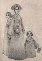The Priestess and her daughters by away-with-the-fae