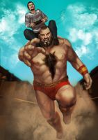 Commish - Zangief and Laurent by Kharnage