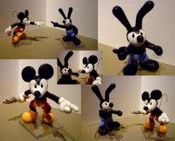 Epic Mickey Vs Oswald Figurine by Jelle-C