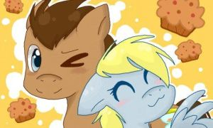 Derpy Hooves and Doctor Whooves by ShinehPie
