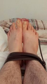 Barefeet belt tied by barefoot99