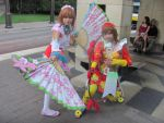 A-kon '12 - Fan and Archer Girl by TexConChaser