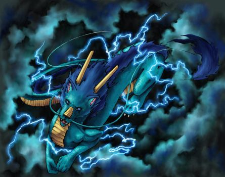 the storm dragon by taintedsilence