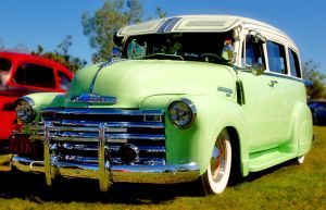 Green Chevy Panel Truck by robgbob