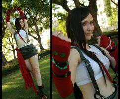 Cosplay: Dissidia Tifa by Risachantag