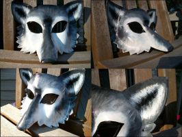 Grey Wolf Mask by Jedi-With-Wings