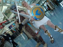 Dovahkiin and Sophitia by Scarlet-Impaler