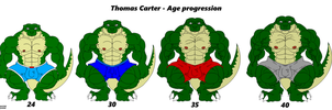 Thomas Carter - Age progression by Maxime-Jeanne