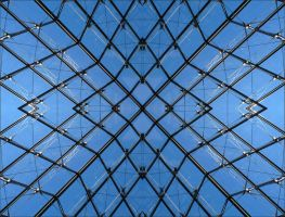 Paris - The Louvre Pyramid by 0pen-y0ur-eyes