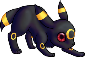 CUTE Umbreon by dragowlfly