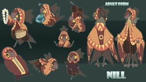 Nill Action Pose Sheet by DandyDoodles