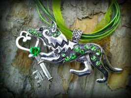 Emerald Key Keeper by ArtByStarlaMoore