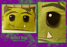 Beast Boy Pillow by FlairtotheSky