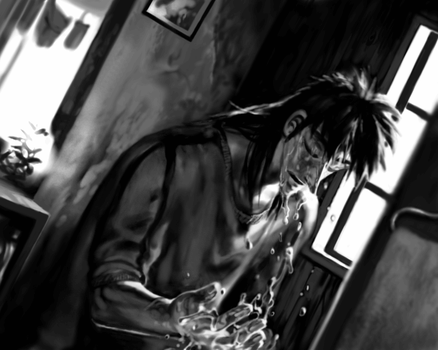 {KAIJI} steel morning by llllle