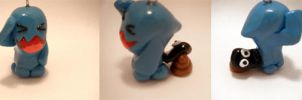 Pokemon Wobbuffet Polymer Clay by CHR0NIE