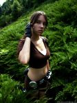 Lara Croft - Earphone by TanyaCroft