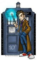 10th Doctor by badgerlordstudios