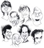 New Caricatures by borogove13