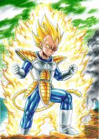 Vegeta in Namek SS by MatiasSoto