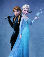 Anna and Elsa: Knight and Queen by Dragoon23