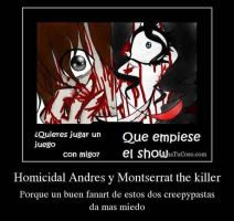 Montserrat the killer y Homicidal Andres by Okami-chan1234