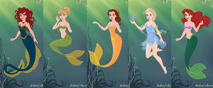 Disney-Ladies Inspired Mermaids by Saint-Pandora