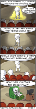 Life's a Stage by theodd1soutcomic