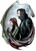 The Hound and The Red Wolf by AlexielApril