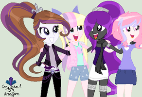 Me and a couple of my fav pony artists :D by crystal23dragon