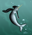 Narwhal Mermaid by Yamino