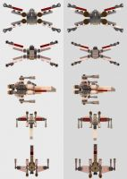 LEGO Mini X-Wing Multiview by Marty--McFly