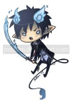 2nd gen chibi - Rin / Blue Exorcist by Puffsan