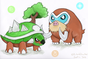 Torterra and Mamoswine