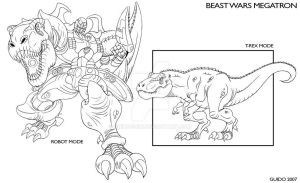 Beast Wars Megatron by GuidoGuidi