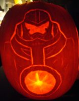 Pacific Rim Gipsy Danger Pumpkin Carving by RebelATS