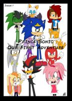 Prince Sonic Our First Adventure Cover by Mellissafox9