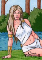 Rhode Sketch Card - Classic Mythology II by ElainePerna