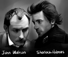 Sherlock and John by ChocolateCereal
