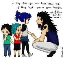gajeel and the kids by beccahanks