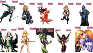 Women Of Marvel card set by knight28