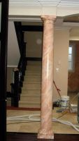 Angle 2 of Faux marbled pillar by SYoshiko